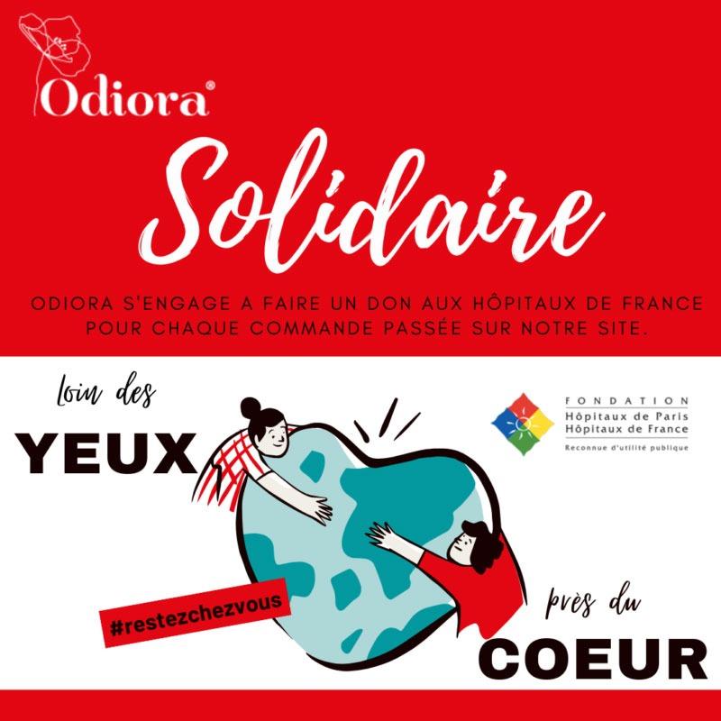 Pendant le confinement, Odiora soutient les hôpitaux de France