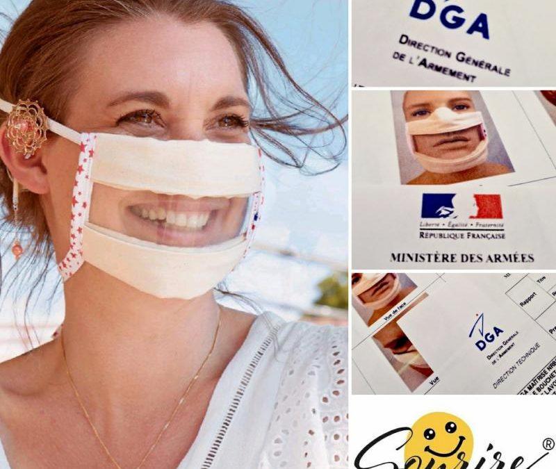 Le Masque Sourire® Odiora validé par la DGA pour sa filtration et respirabilité