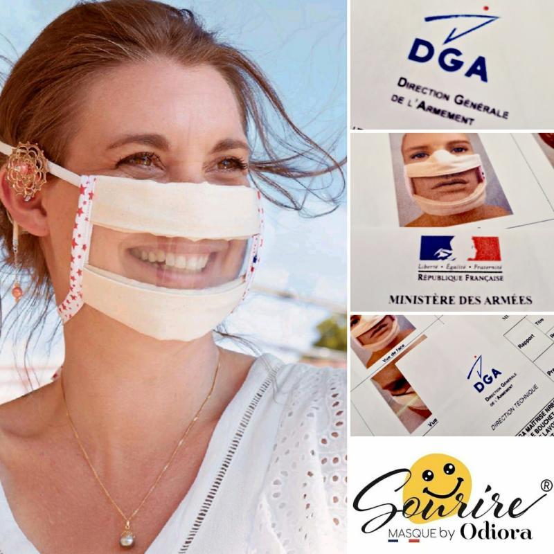 Le masque sourire d'Odiora validé par la DGA