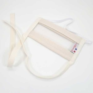 Masque Sourire, un masque tendance au allure tout naturel Oeko tex, protection contre le Covid 19 validé par la DGA, UNS avec fenetre transparentes pour aider la lecture labiale des malentendants