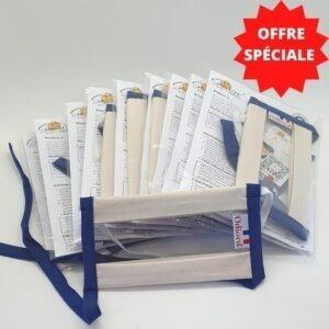 Photo de notre offre spéciale sur le pack de 10 Masques Transparents Sourire par Odiora