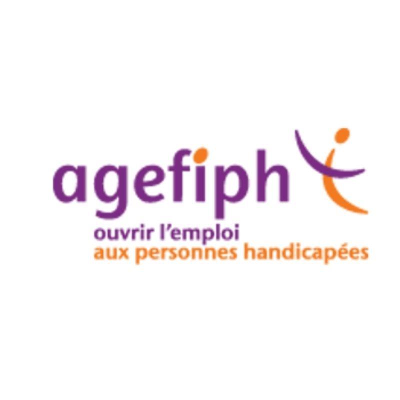 """Logo de l'agefiph avec le slogan """"ouvrir l'emploi aux personnes handicapés"""" article sur les aides financières prolongées"""